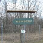 Gut markiert ist der Weg zum Weinberg