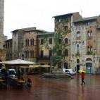 San Gimignano bei Regen