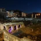 das Forum Romanum bei Nacht