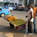 Straßenmarkt in Livingstone