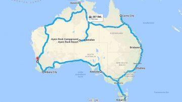 Unsere geplante Tour durch Australien