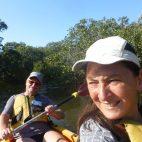 Endlich mal wieder Paddeln. Die Tour ging durch einsame Mangrovenwälder…