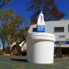 Unsere Bunnings-Baumarkttoilette leistete schon wertvolle Dienste, wenn das Original nicht mehr wollte.