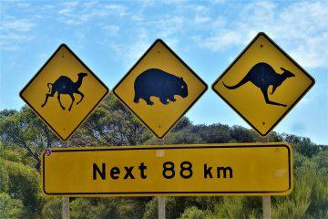 ein typisches Schild in Australien