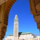 Die Hasan II. Moschee in Casablanca ist das zweitgrößte Gebetshaus dieser Art auf der Welt.