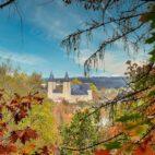 Blick auf das Schloss von der Bastei